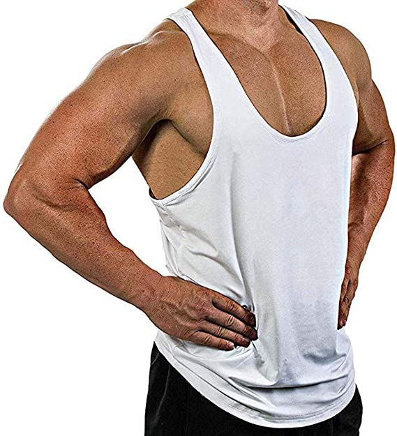 US Mens Sports Slim Muscle Tee Tank Top T-Shirt Casual Sleeveless Gym Shirt Vest