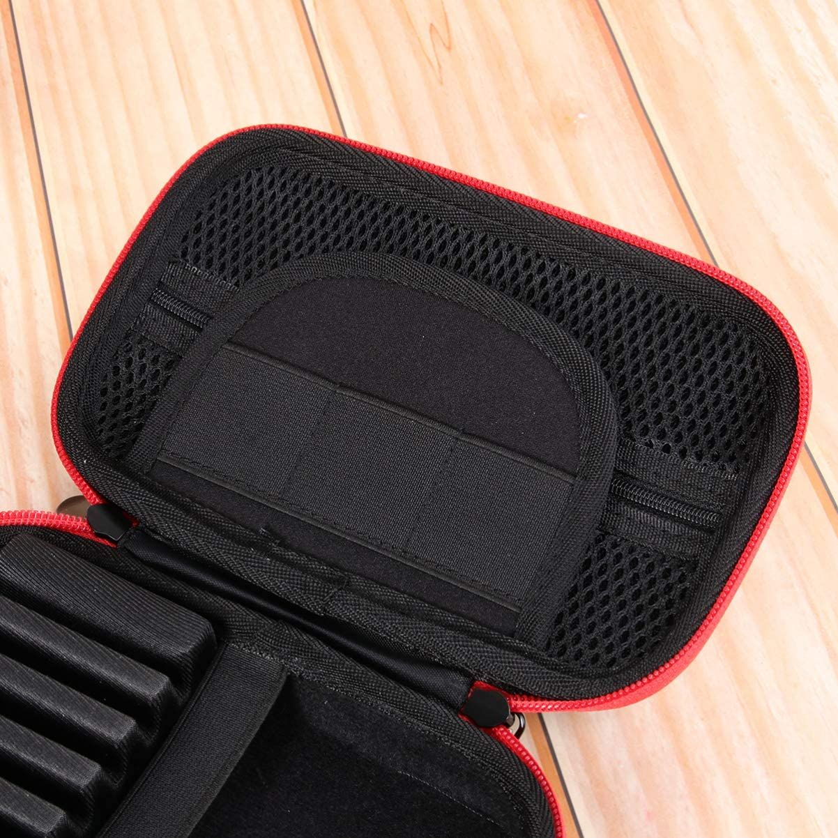 Negro BESPORTBLE Caja de Transporte de Dardos Contenedor de Dardos Port/átil Bolsa de Almacenamiento de Dardos Caja de Transporte de Dardos para Exterior Exterior Hogar