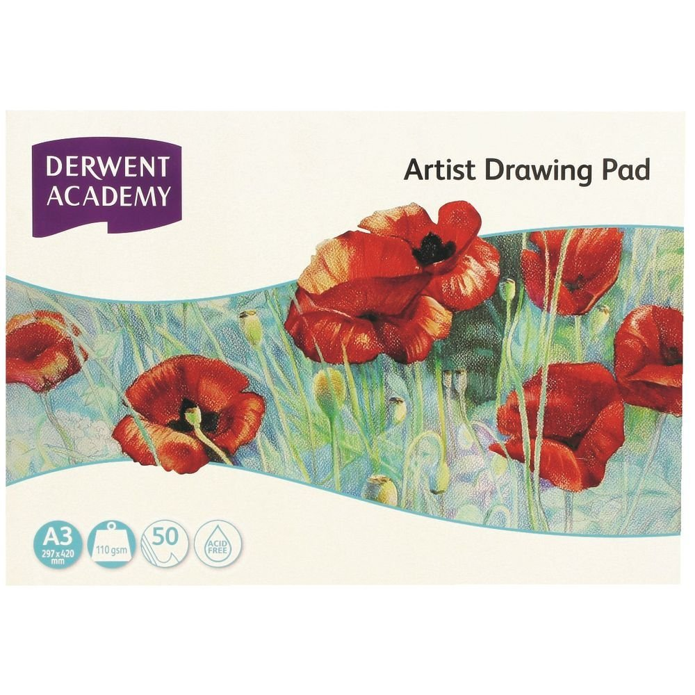 Derwent Academy A3 Drawing Pad Landscape Acid Free 110gsm 50 Pages by Derwent (Image #1)
