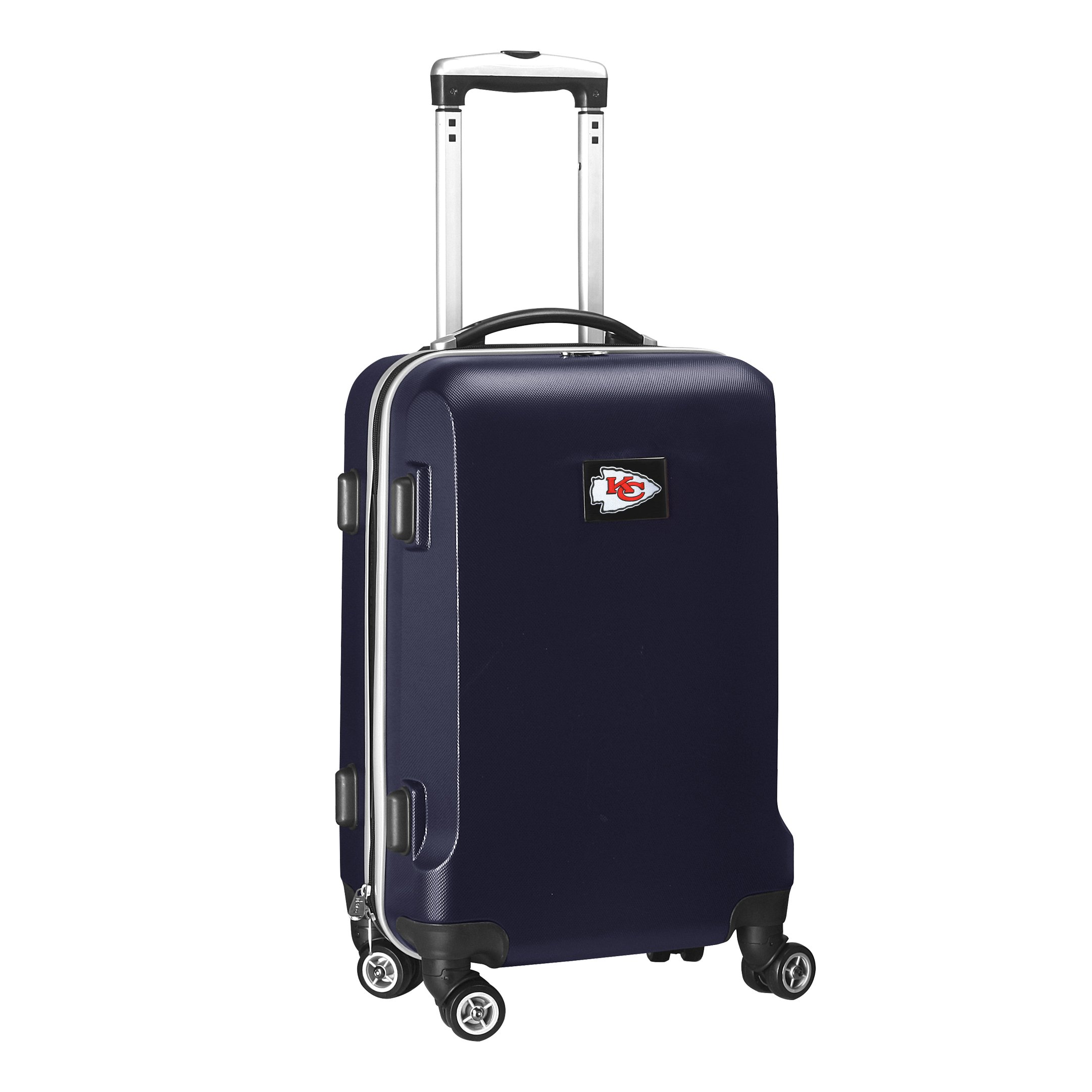 Denco NFL Kansas City Chiefs Carry-On Hardcase Luggage Spinner, Navy by Denco (Image #2)