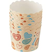 RedMan 65728 Muffin Baking Case, 50mm x 45mm, Love (Pack of 50)