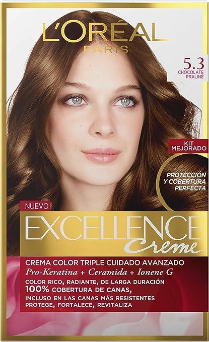 EXCELLENCE Crema colorante castaño claro dorado 5.3 40 ml ...