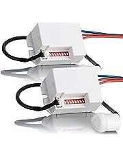 Sebson Mini Rilevatore di movimento da incasso per interni, Montaggio a soffitto, LED adatto, programmabile, Infrarossi Sensore, Portata 6m/360?