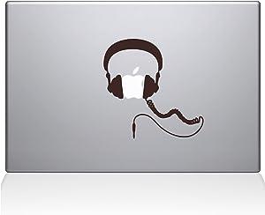 """The Decal Guru Headphones MacBook Decal Vinyl Sticker - 13"""" MacBook Pro (2015 & Older) - Brown (1081-MAC-13P-BRO)"""
