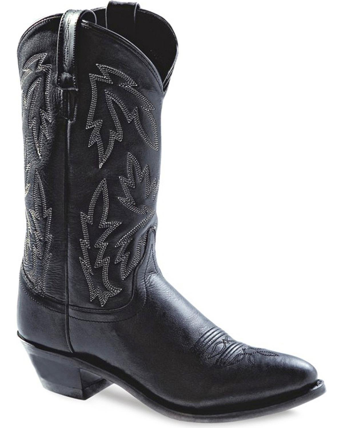 Old West Women's Polanil Western Cowboy Boot Round Toe - Ow2034l B002AJ9R7Q 9 M US|Black
