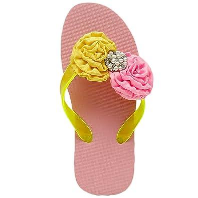 1ee989eb0c752 ... D chica Fancy Rubber Hawaiian Summer Flip Flops for Girls Buy Online at  Low Prices in ...