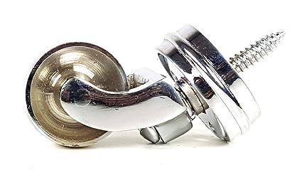 Chrome castor anello mm con vite a rotella per mobili letti