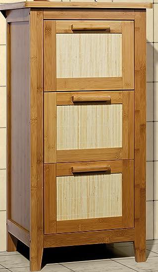 Unterschrank Badezimmermöbel Massivholz Badezimmer-Schrank mit 3 ... | {Badezimmermöbel holz massiv 88}