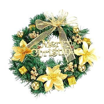 hot sale merry christmas wreath40cm garland window door decorations bowknot - Christmas Garland Decorations Sale