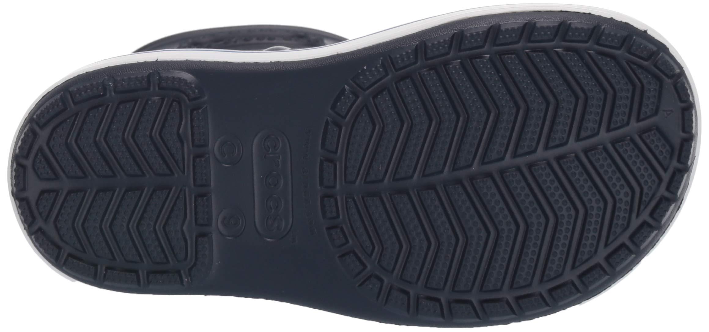 Crocs Unisex Crocband Rain Boot, Navy/Bright Cobalt, 2 M US Little Kid by Crocs (Image #3)