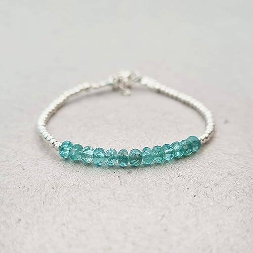 Double strand gemstones and sterling silver beads bracelet.Dainty bracelet.Wrap.Ruby,apatite,sterling silver