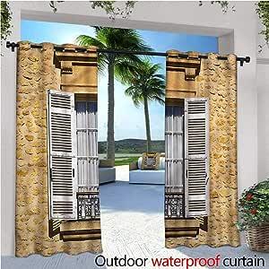 Cortinas de Patio de Campo para Patio o Patio o al Aire Libre, Cortinas de Patio, al Aire Libre: Amazon.es: Jardín