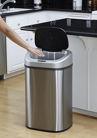 80L Hände Berühren Frei Großes Kapazitäts Recycling Doppel Doppel Duo 2  Recycle Fachautomatik