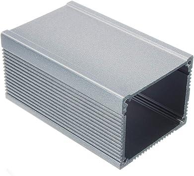 GIlH DIY 805040 mm caja de instrumentos de aluminio extruido caja de cierre de proyecto electrónico plateado: Amazon.es: Bricolaje y herramientas