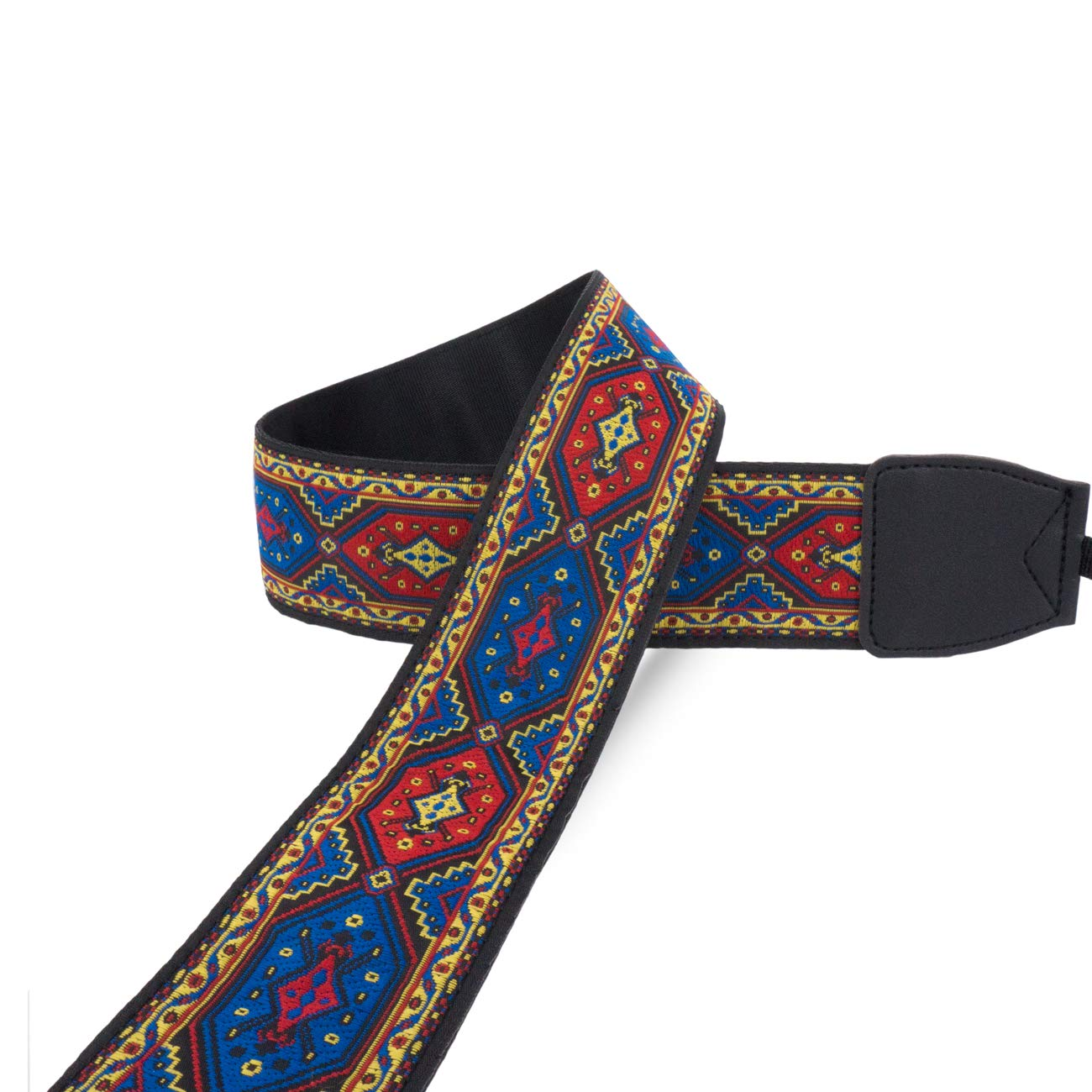 Wolven Vintage Jacquard Weave Camera Neck Shoulder Strap Belt Compatible for All DSLR//SLR//Digital Camera //Instant Camera//Polaroid etc DC Blue Classic Floral