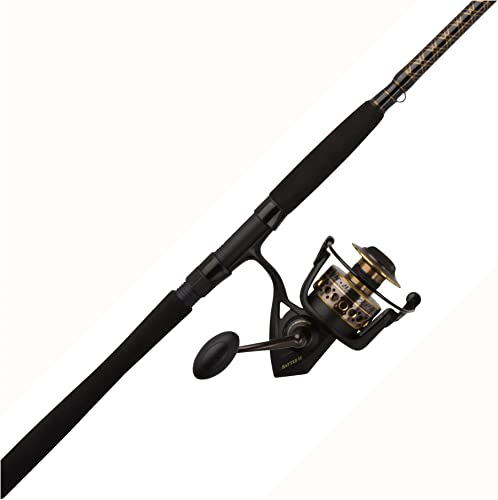 Penn Battle 6000II 9 2 PC Surf Rod and Reel Spinning Combo