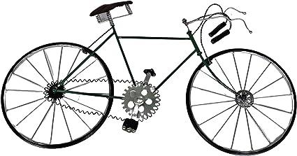 Decoración de la pared de la bicicleta de metal antiguo. Decoración para hombres, mujeres y niños enamorados del ciclismo y del Tour de Francia. ...