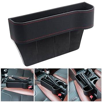 Car Seat Filler Gap Catcher Side Pocket Organizer Storage Cup Holder Black