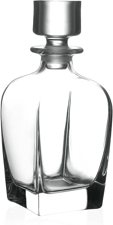 Circleware Monarch Elegant Liquor Scotch Brandy Bourbon Wine Whiskey Pitcher, 709ml, Monarchclear