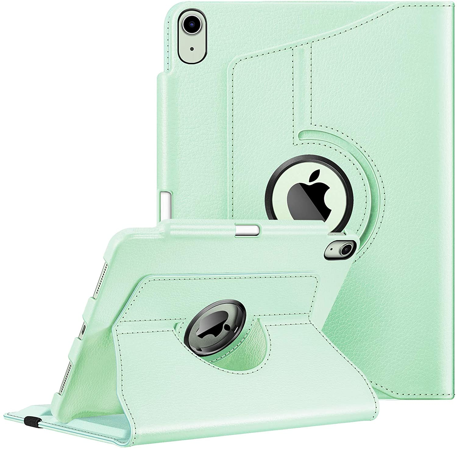 Fintie Case for iPad Air 4 10.9 Inch 2020 with Pencil Holder [Support 2nd Gen Pencil Charging] - 360 Degree Rotating Stand Cover with Auto Sleep/Wake for iPad Air 4th Generation, Green