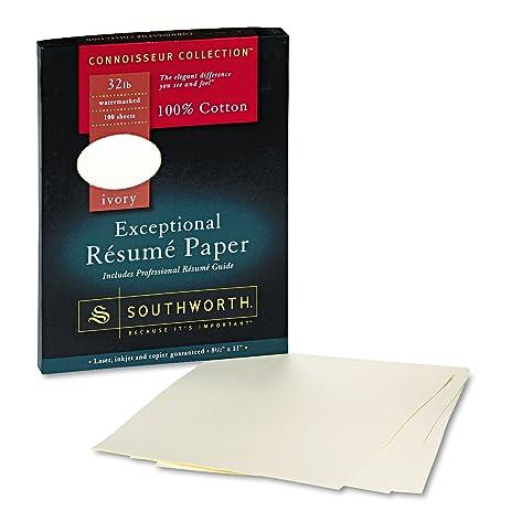 connoisseur exceptional rsum paper ivory 32lb letter 100 per box - Resume Paper Amazon