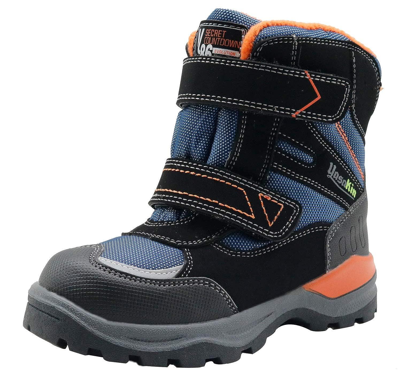 Apakowa Kids Boys Woolen Lining Waterproof Outdoor Hiking Snow Boots Toddler//Little Kid//Big Kid