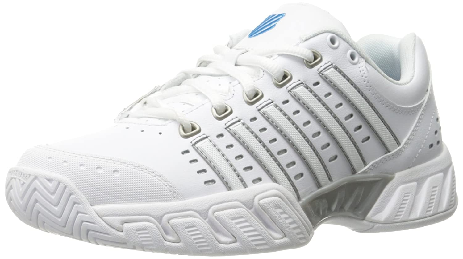 K-Swiss Women's Bigshot Light Tennis Shoe B01LS81Y8O 12 B(M) US|White/Hawaiian Ocean