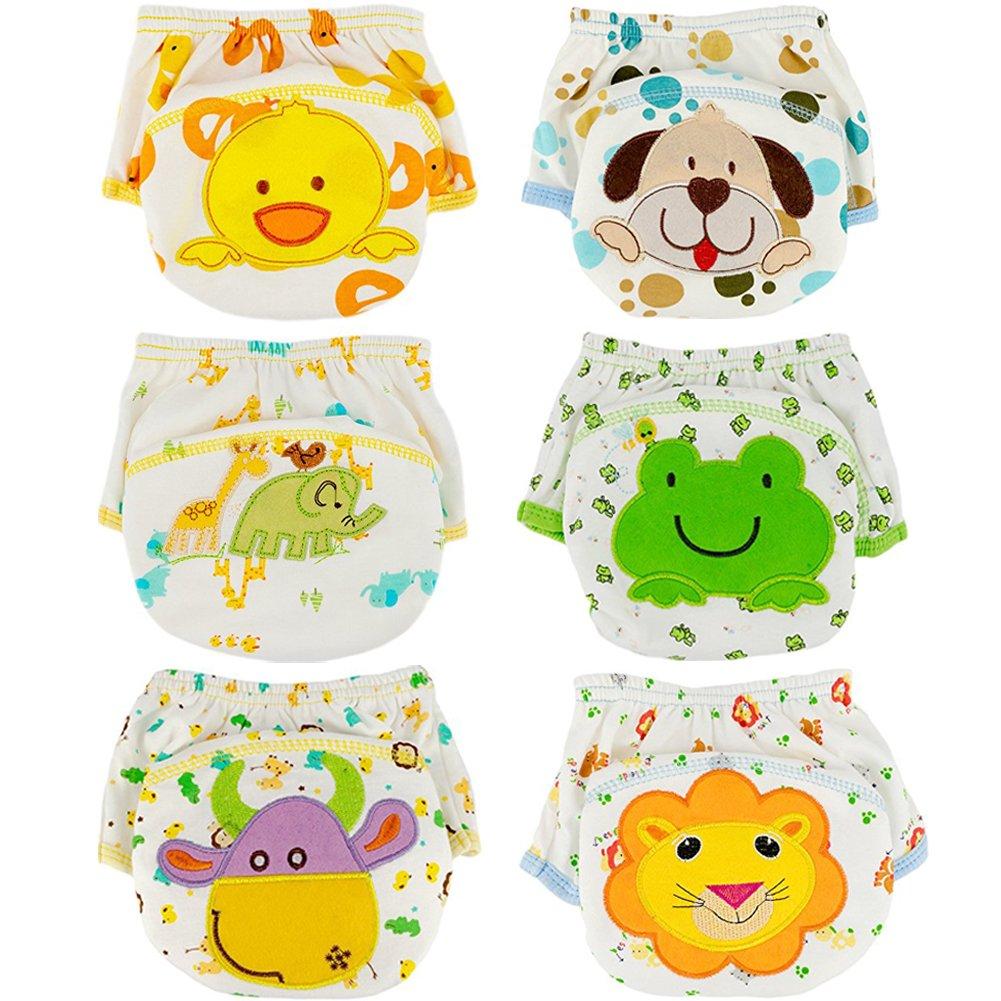 Tongchou 6pcs Baby Toddler Boys Cotton Potty Training Pants Reusable 1-2 Years Size 90