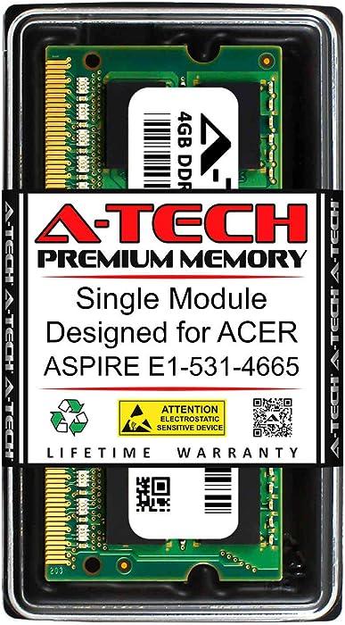 A-Tech 4GB RAM for ACER Aspire E1-531-4665 | DDR3 1600MHz SODIMM PC3-12800 204-Pin Non-ECC Memory Upgrade Module