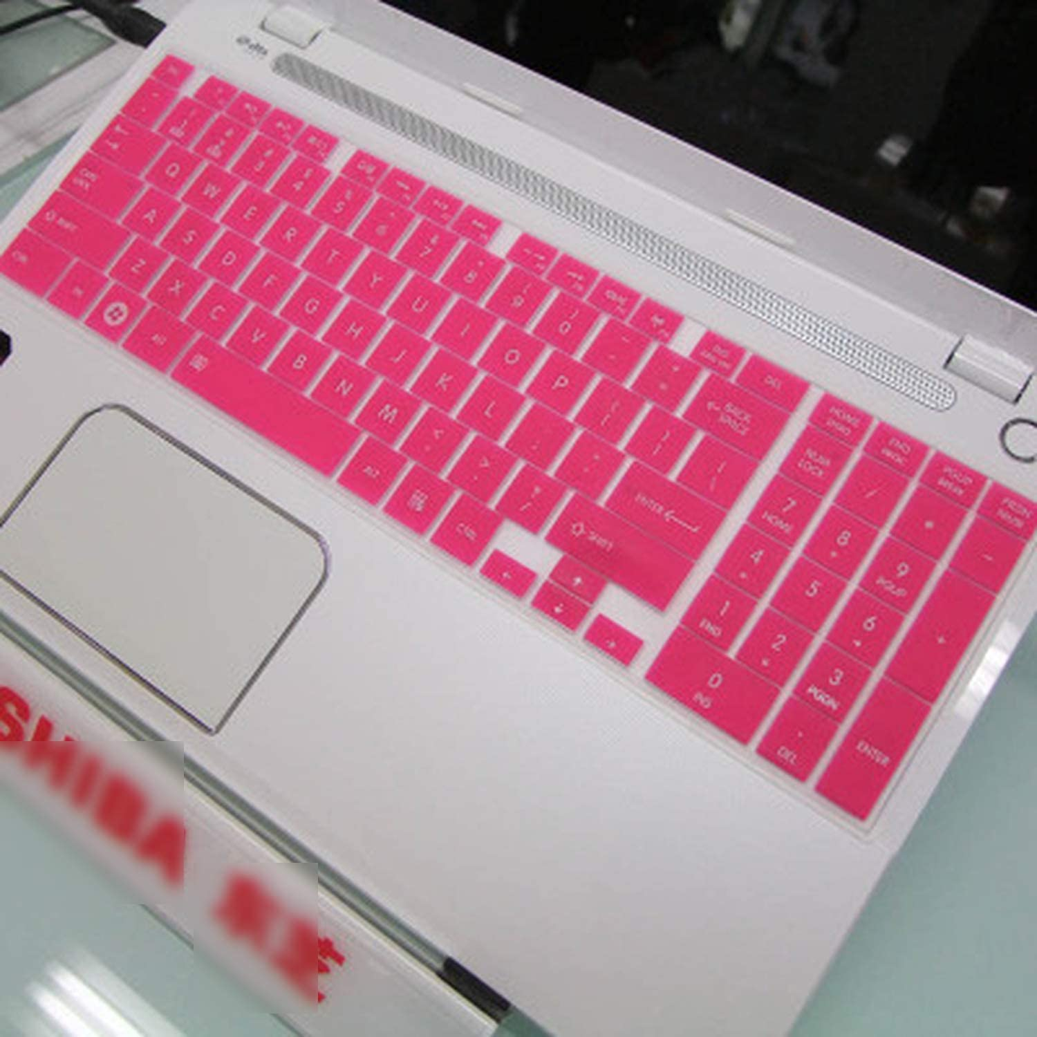 2020 15 17 Silicone Keyboard Cover for Toshiba Satellite C55D C55D B5102 L50 L50D L50 A L850D L855 C50 At03W1 M50 At02S1 M50D-Pink