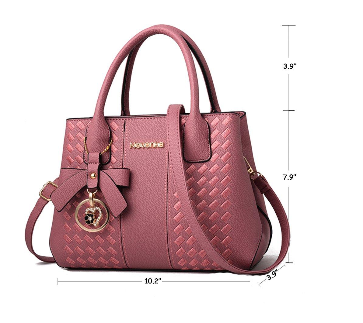 Handbags for Women Fashion Ladies Purses PU Leather Satchel Shoulder Tote Bags by Jeniulet (Image #5)