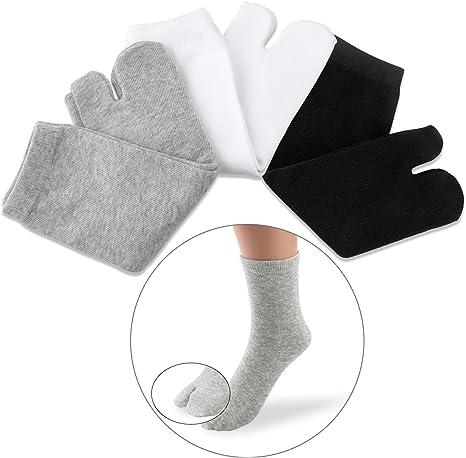 3 pares Calcetines de dos dedos Calcetines del dedo del pie ...