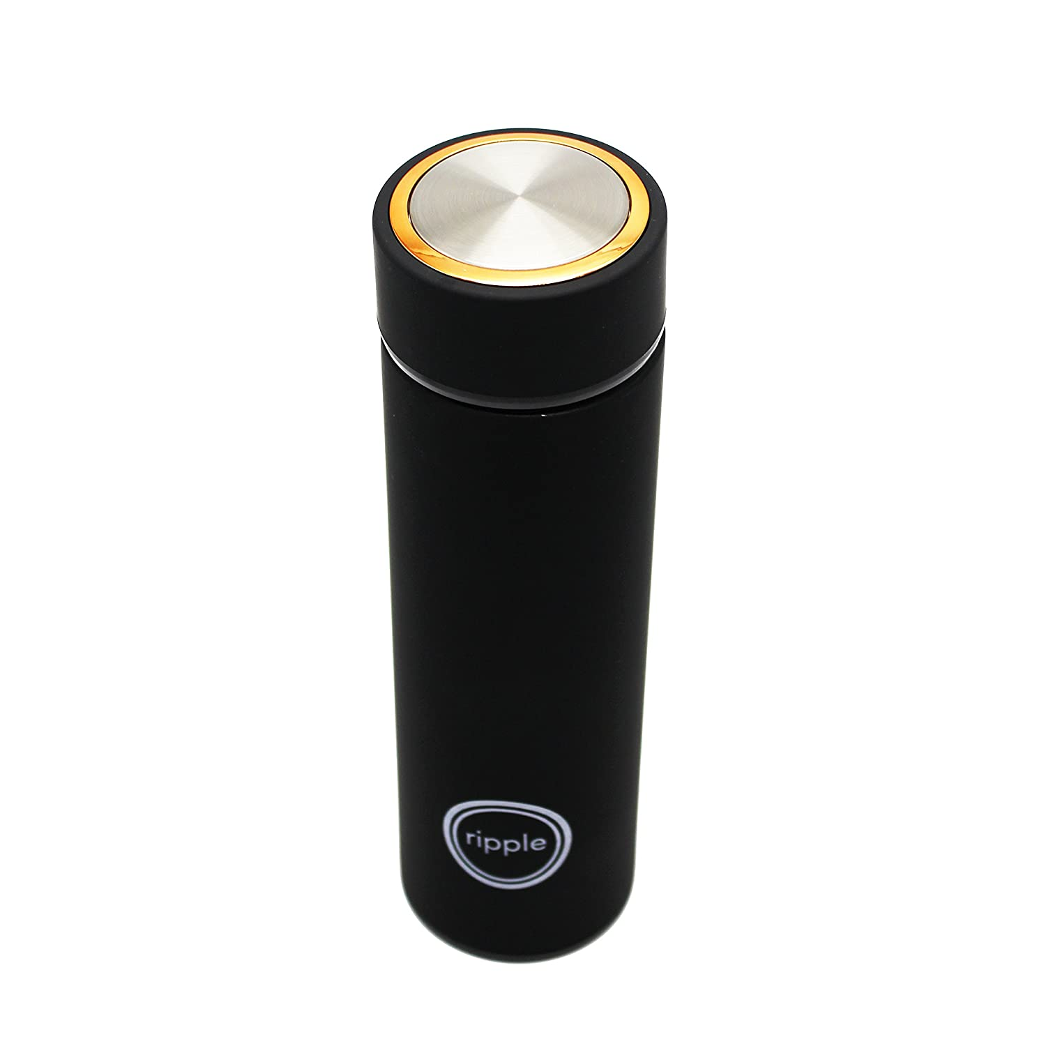 Dancers and Travelers Sleek and Stylish 17 oz Double Wall Insulated Stainless Steel Ripple Water Bottle Leak-Proof and BPA-Free Athletes Best Bottle for Backpackers Great for Commuting.