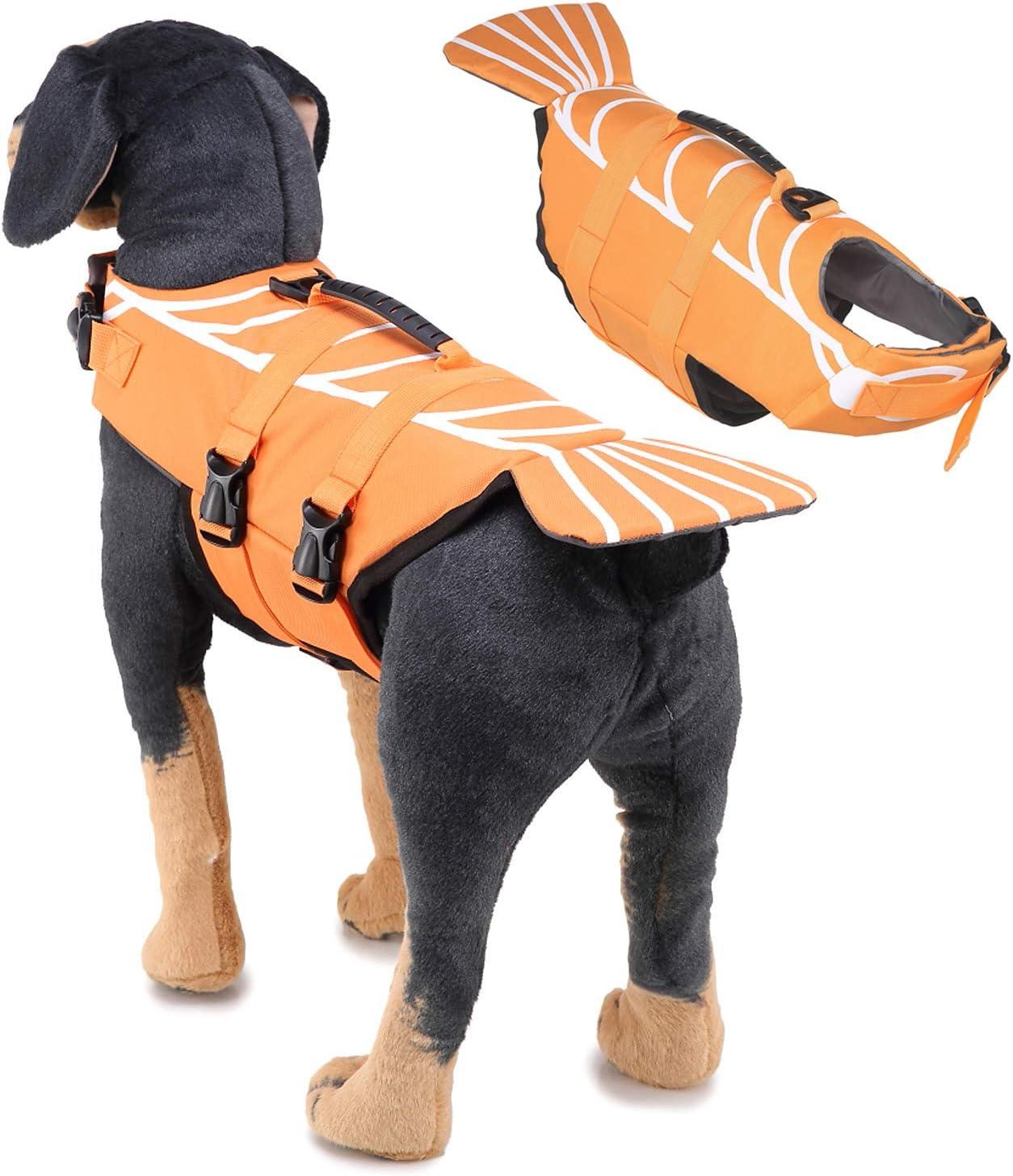 Dog Life New products, world's highest quality popular! Jacket Orange Lobster Adjustable Preserve Nippon regular agency Pet Lifesaver