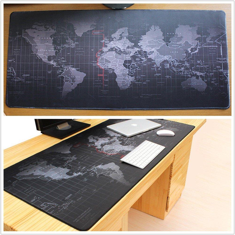 260 x 210 x 2 mm LL-COEUR XXL Gaming Alfombrilla de Rat/ón Computer Escritorio Mapa del Mundo Mouse Pad