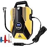 Inflador digital de pneu automático, bomba compressor de ar portátil de 12 V CC para pneus de carro, desligamento automático