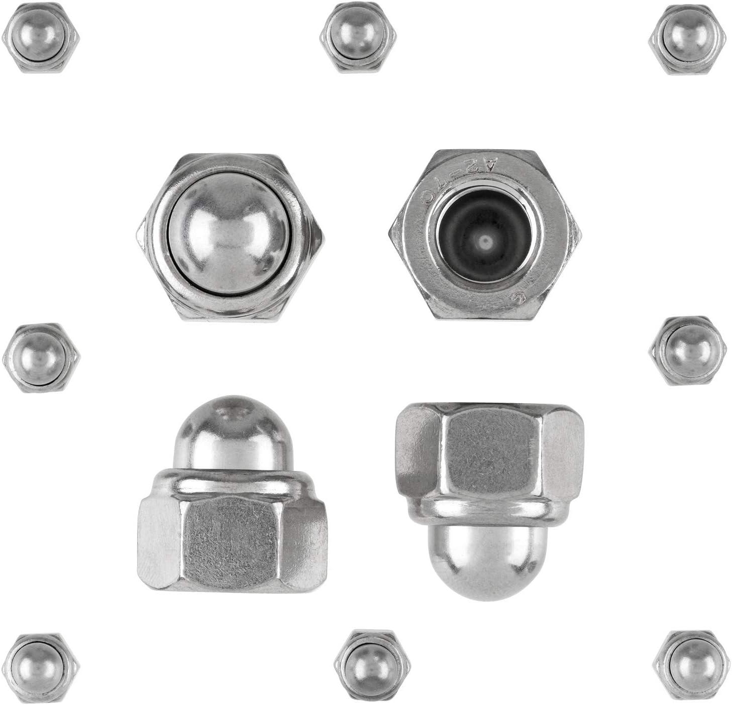 Edelstahl A2 - Sechskant-Hutmuttern Stopmuttern Sicherungsmuttern 20 St/ück Hutmuttern M6 DIN 986 selbstsichernd