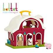 Battat – Big Red Barn – Animal Farm Playset for Toddlers 18M+ (6Piece)