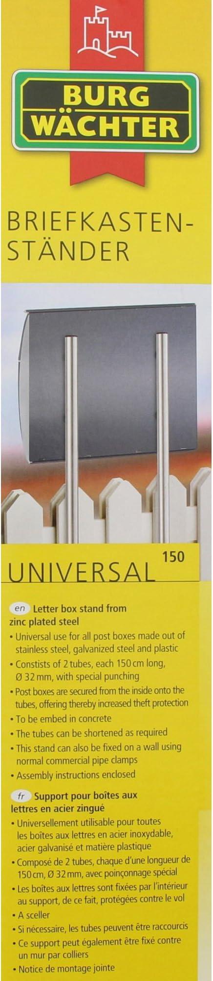 BURG-WÄCHTER Briefkastenständer Universal 150 Si Briefkasten Ständer Standfuß
