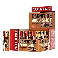 Nutrend CARNITINE 3000 SHOT 20x60ml orange Sport Taurin, Koffein, Praktische Monodosen, Grüner Tee-Extrakt, Vitamine B1, B5 und B6, L-Carnitin, Taurin, Chrom