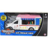 NEW 1:38 SCALE TEAMSTERZ ICE CREAM VAN FLASHING LIGHT & SOUND MOBILE CATERING