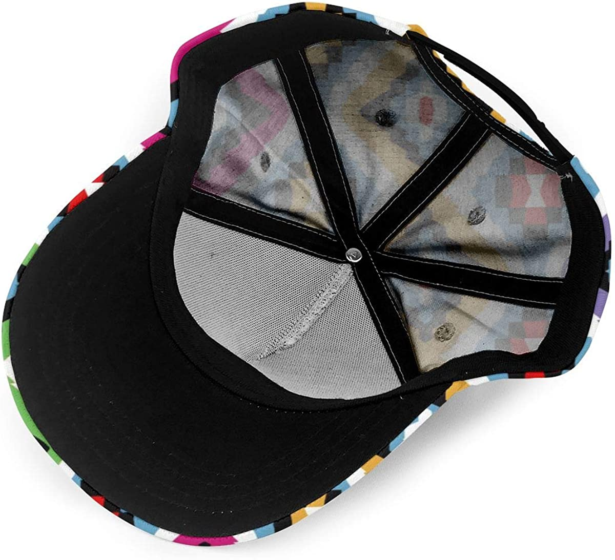 HHTZTCL Colored Ethnic Texture Baseball Cap Adjustable Washed Cotton Dad Hat Hats Black