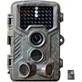"SAVA HD 1080P 12MP Game and Trail camera for Deer Hunting , No Glow Infrared Scouting Camera Night Vision max to 82ft with 46pcs LEDs , 2.4"" LCD Screen and Waterproof IP66 Including 4GB micro SD card"