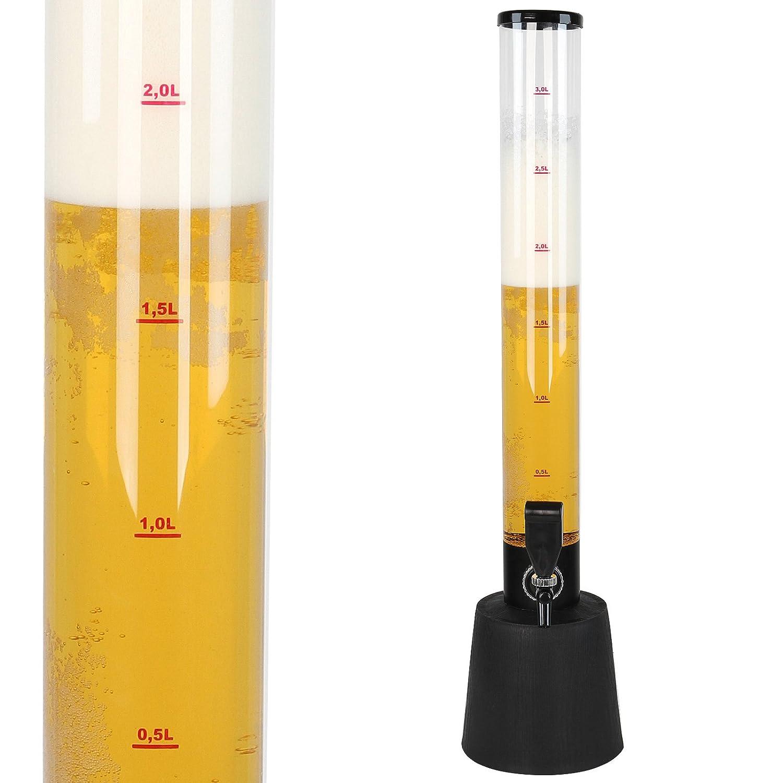 Jago Dispensador de Cerveza | 3,5 Litros | Torre de la Cerveza, Dispensador de la Bebida, Trago de Cerveza Torre: Amazon.es: Hogar