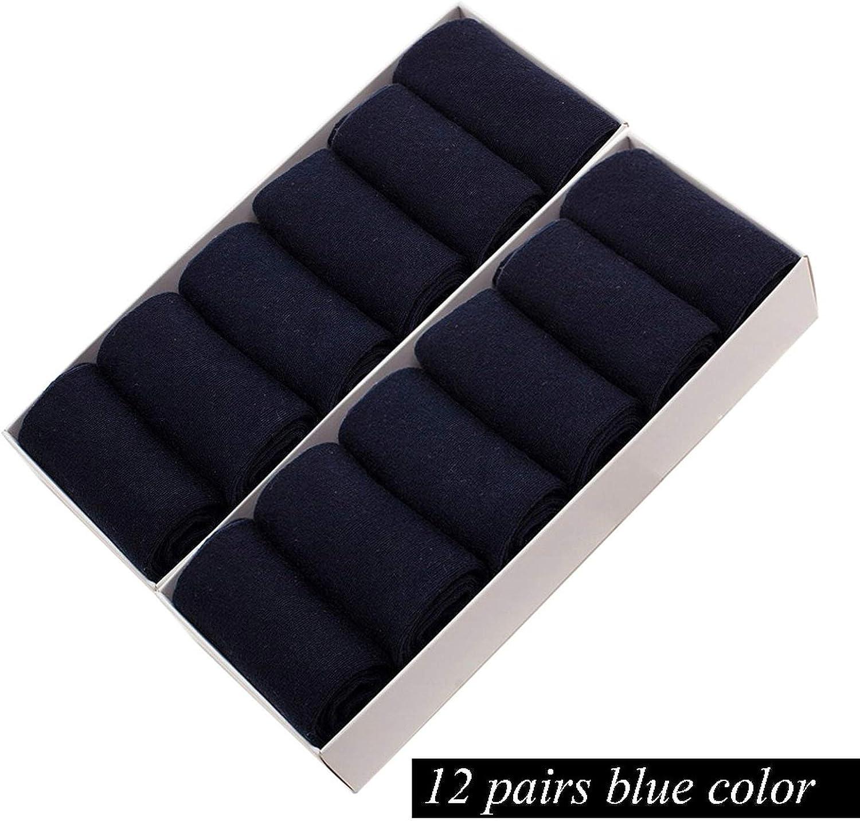 12 Pairs//Lot Mens Cotton Socks Business Men Deodorant Crew Socks