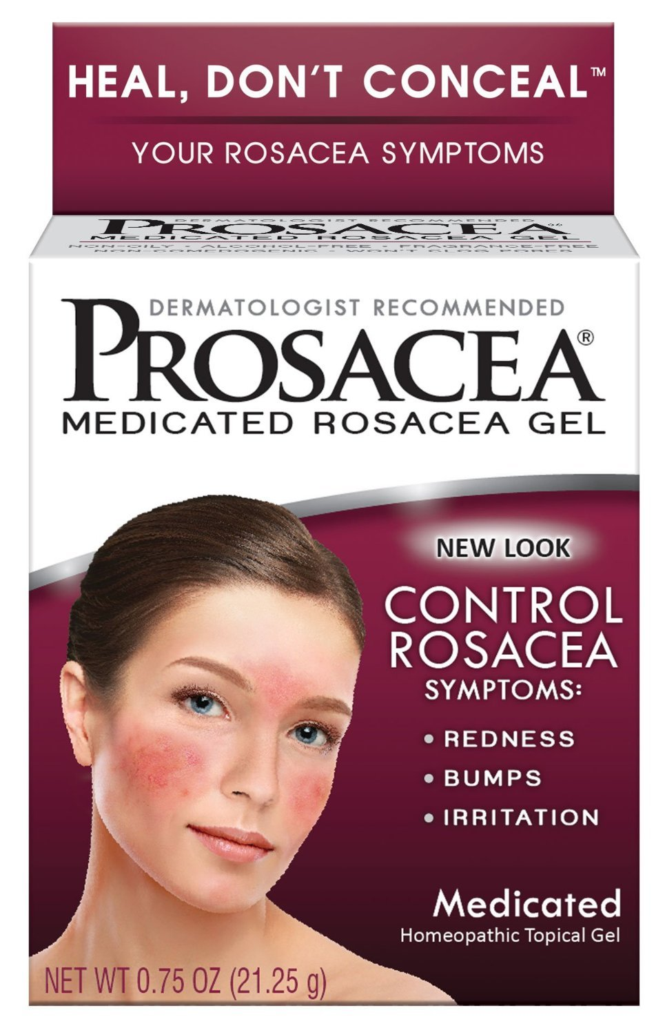Prosacea Rosacea Relief Gel, 0.75 Ounce (Pack of 3)