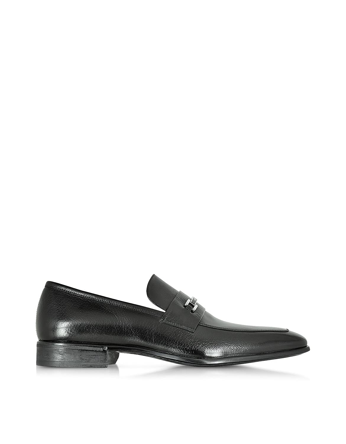 MORESCHI MEN'S 41490MQBLACK BLACK LEATHER LOAFERS