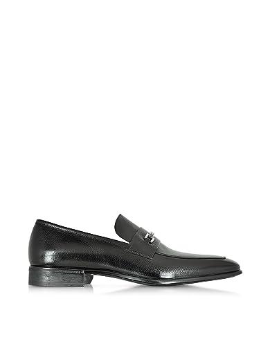 Men's 41490MQBLACK Black Leather Loafers
