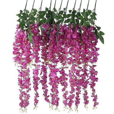 Gisela Graham Faux Hanging Japanese Wax Flower