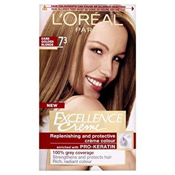 LOreal Excellence Permanent Hair Colour Dark Golden Blonde - Hair colour dark golden brown